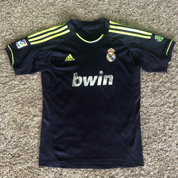 promo code bf7bd ab2d2 Adidas Real Madrid bwin Ronaldo 7 polyester jersey